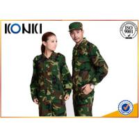 Buy cheap Long Sleeve Forest Camouflage Military Uniforms BDU / ACU Army Battle Dress Uniform from wholesalers