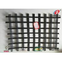 China Durable Polyester Geogrid Reinforcing Fabric High Tensile Strength BLACK on sale
