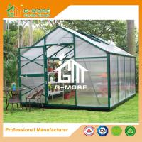 Buy cheap Aluminum Greenhouse-Titan series-406X306X243CM-Green/Black Color-10mm thick PC from wholesalers
