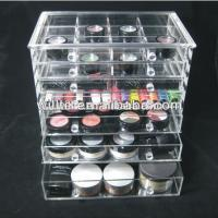 Buy cheap cheap clear 6 drawer acrylic makeup organizer with drawers clear box cosmetic cases from wholesalers