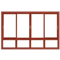 Buy cheap Float Glass Double Interior Aluminium Sliding Windows Waterproof Red Cherry Color from wholesalers