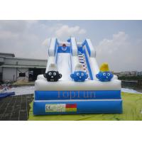 Buy cheap Blue Crazy Fun Surf Inflatable Water Slide With Digital Printing from wholesalers