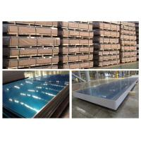 Buy cheap 3004 H18 H14 Aluminum Sheet With Blue Cover Film 1mm - 3mm Typical Thickness product