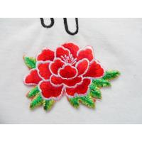 Buy cheap Hot Fix Motif   Embroidery Peony Flower for Cheongsam from wholesalers