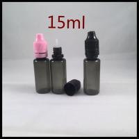 Buy cheap Black Plastic Ejuice Bottles 15ml PET Dropper Bottles Essential Oil Bottle product