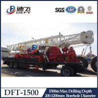 Buy cheap 600m 1000m 1500m truck trailer mounted hydraulic water well drilling rig machine from wholesalers