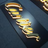 Buy cheap Illuminated Channel Letter Signs Halo-lit Gold Polish 3D Letter from wholesalers