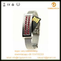 Buy cheap Crystal Watch Flash Disk, Jewelry Pen Drive, Jewelry Bracelet USB from wholesalers