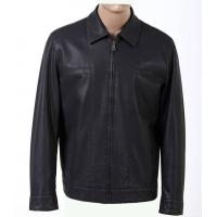 Buy cheap Trendy Size 54 XXXL Western Black Fitted Mens Lightweight PU Leather Jackets product
