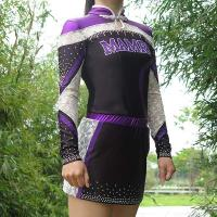 Buy cheap Quick Dry Purple All Star Cheer Uniforms With Customized Patterns from wholesalers