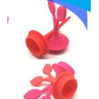 Buy cheap Promotional gifts tree leaf shape Wine accessories silicone rubber bottle stopper  from wholesalers