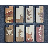 China Ultra Slim Luxury Bamboo Wood iPhone Case Laser Personality Pattern OEM Available on sale