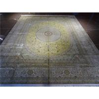 Buy cheap light color belgium iranian silk carpet big size villa luxury carpet factory in guangzhou from wholesalers