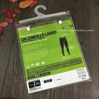 Buy cheap Transparent Plastic Garment Hook Bags Clear PVC Hook bag with PP Hanger from wholesalers