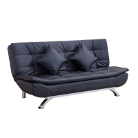 Buy cheap Metal Frame PU Leather Home Convertible Sofa Bed from wholesalers