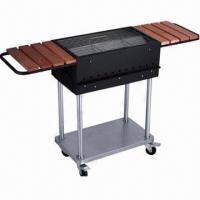 Buy cheap Charcoal grill with wheels set and condiment tables from wholesalers