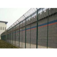 Buy cheap Pvc Anti Climb Fence , Green High Security Welded Mesh Fence C/W Clamp Bar from wholesalers