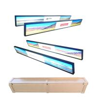 Buy cheap Wall Mounted Ultra Wide Digital Signage , Metal Shell Waterproof Lcd Display product
