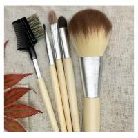 Buy cheap 5 Pcs Beginner Cosmetic Brush Kit, Makeup Brush Set, Linan Bag, Bamboo Handle from wholesalers