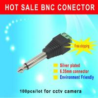 Buy cheap CCTV Camera connector 100pcs/lot 6.35mm connector AUDIO stereo plug sliver plated Environmental friendlycctv accessory from wholesalers