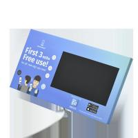 Buy cheap Custom print cardboard LCD video display with back stands for video point of sales marketing from wholesalers