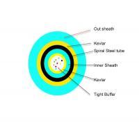 Multi core Double Sheath Spiral steel Fiber optic cable