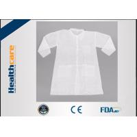 Buy cheap Long Sleeve PP Disposable Lab Coats Medical Gowns Fluid Resistant Single Use from wholesalers