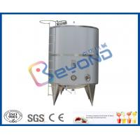 Buy cheap Single Layer Stainless Steel Milk Storage Tank For Juice Storage Tank SGS / CE / ISO9001 from wholesalers