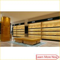 Buy cheap Luxury Brand mdf plus Shoe Display Shelves with lighting decorated from wholesalers