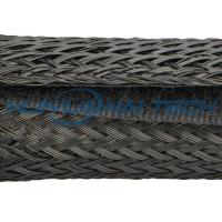 China Fireproof Velcro Cable Sleeve Easy Operation With Polyester Single - Layer PET Mesh on sale