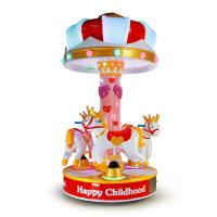Buy cheap 3 People Amusement Kids Ride Indoor Outdoor Playground Merry - Go - Round  Small Carousel from wholesalers