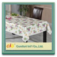Buy cheap Custom Printed Popular Modern PVC Table Cloths with Non-woven Fabric Backing from wholesalers