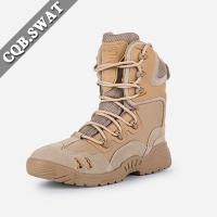 Buy cheap New Design Suede Upper British Army Beige Military Desert Boots With Zipper from wholesalers