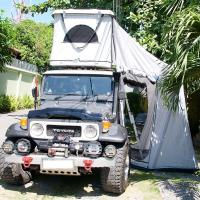 Quality Tear Resistant Car Top Tent Hard Shell With Clipper - Built Design for sale