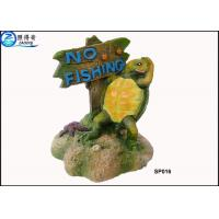 Buy cheap Household Eco Friendly Unusual Large Fish Tank Ornaments Decoration With Notice Signs from wholesalers