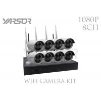 Buy cheap 8 Channel NVR 1080p Security System , 2.0 MP Wireless IR Bullet HD NVR Kit from wholesalers
