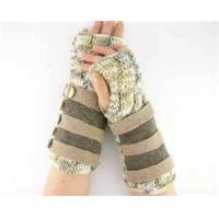 Buy cheap Wool Fashion Stripe Arm Warmer Fingerless Knit Long Mitten Gloves for women from wholesalers