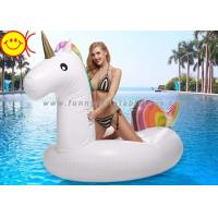 Buy cheap Giant Unicorn Inflatable Pool Floats 270cm PVC Rainbow Unicorn Pool Toys from wholesalers
