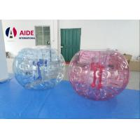 Buy cheap PVC Durable Inflatable Ball Game Bubble Soccer Life Sized Hamster Ball 6Ft from wholesalers