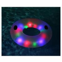 Buy cheap LED Swimming Ring Floating Rafts Inflatable Illuminated Deluxe Tube For Adults from wholesalers