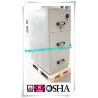 Buy cheap 3 Drawer Fire Resistant Filing Cabinets For Storing Documents In Hotel / Office from wholesalers