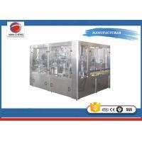 3 In 1 Monoblock Liquid Filling Machine 1.8KW , Electric Water Bottle Filler Machine