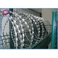 Buy cheap Sharp Razor Barbed Wire Anti Rust Hot Dipped Galvanized BTO22 from wholesalers