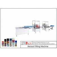 Buy cheap High Performance Aerosol Filling Machine , Aerosol Paint Can Filling Machine  from wholesalers