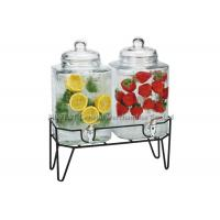 Buy cheap Double glass beverage dispenser with stand , hammered embossing for juicing product