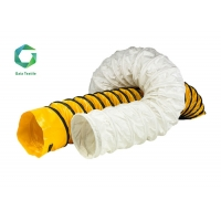 Buy cheap 1500d Vinyl Vent Duct 610gsm , 600N Tear Strength Flexible PVC Vent Pipe Flame Retardant from wholesalers