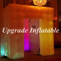 Buy cheap custom high quality inflatable led photo booth with color changing light for wedding decoration from wholesalers