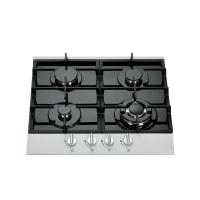 Buy cheap Black Gas Stove 4 Burner Glass Top , Built In Gas Hob Home Appliance 590*510mm from wholesalers