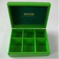 Buy cheap Wooden tea bag box, environmental green color, hinged & clasp from wholesalers