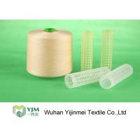 Full Bright Dyed Polyester Yarn , Bright Core Spun Yarn With Plastic Tube